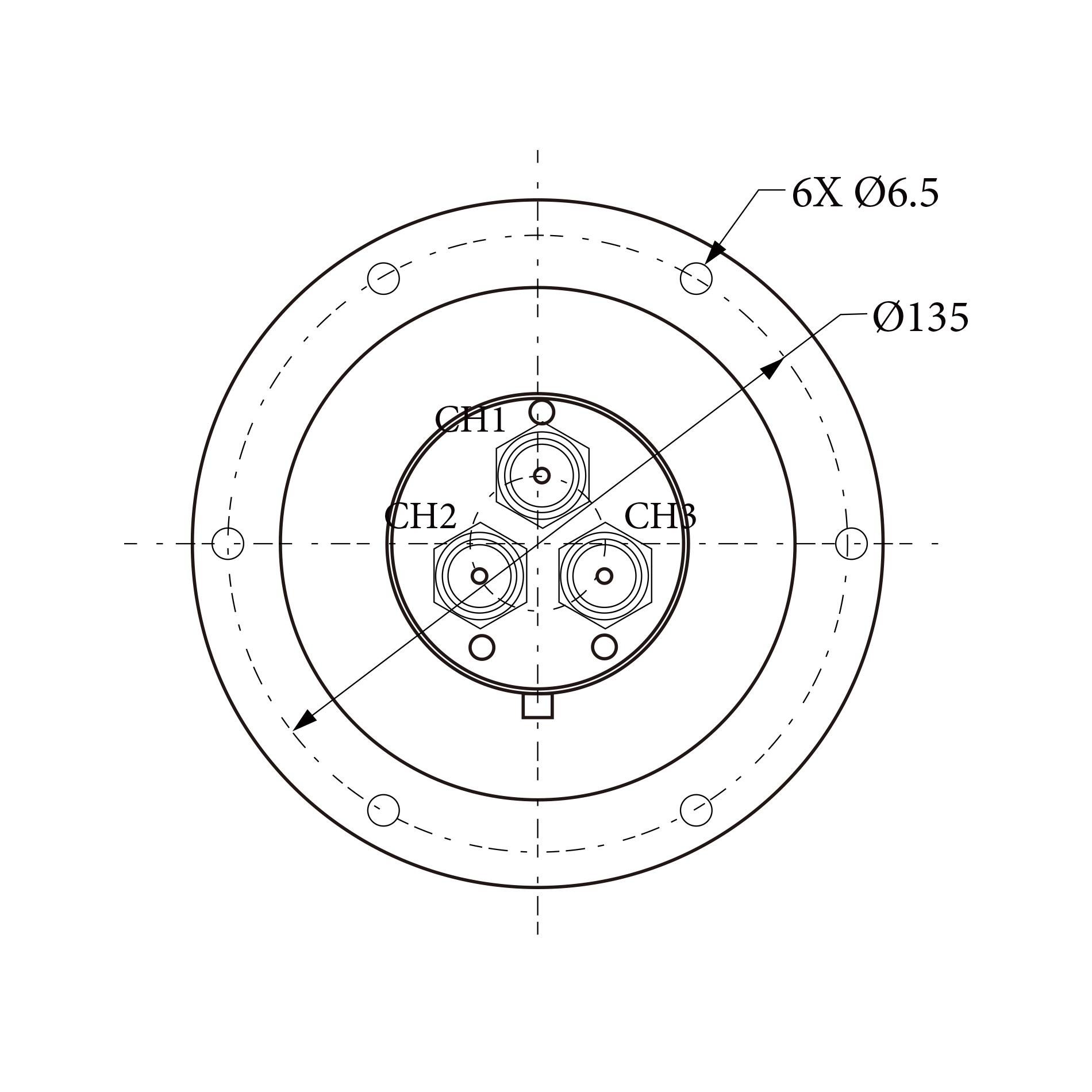 三路旋转关节RJ153185 1CH  2CH 3CH均为1.0 GHz~1.1 GHz  N型接头
