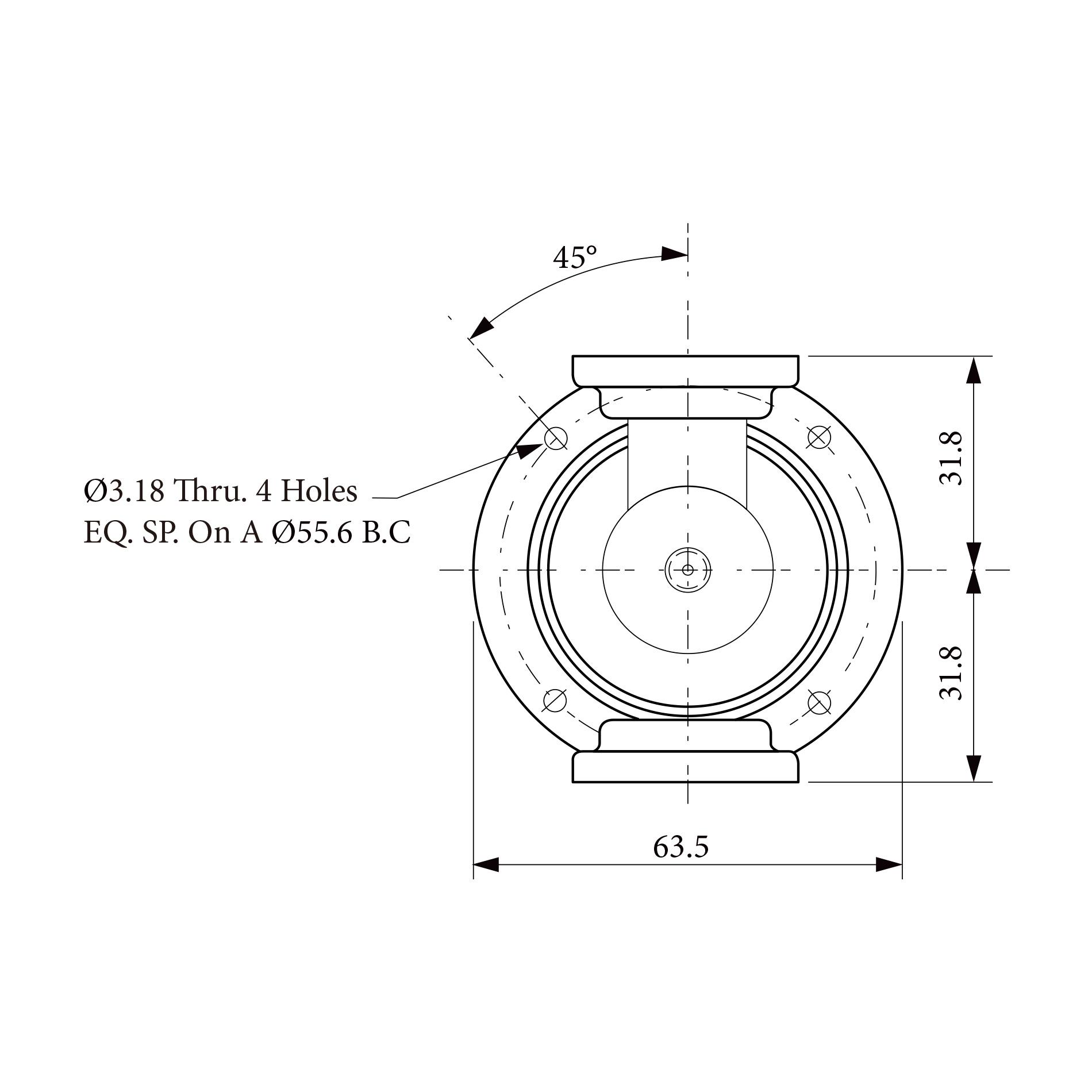 三路旋转关节RJ153187 1CH  2CH 3CH均为5.4 ~5.9 GHz  WR 187 Flange